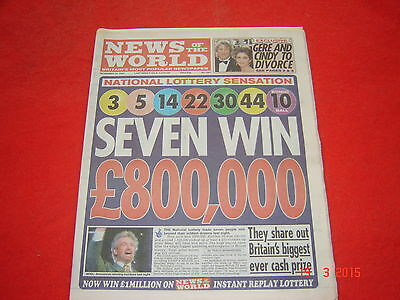 News of the World newspaper. 20th November 1994.  excellent condition.