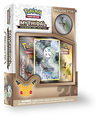 POKEMON GENERATION MYTHICAL MELOETTA COLLECTION BOX SEALED SHIPS NOW booster new