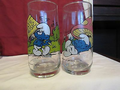 2-Smurf Glasses-1982