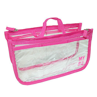New MY TAGALONGS Women's Clear Multi Pocket  Handbag Organizer