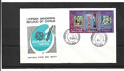 Cyprus  1975 Europa Set Un-Addressed Illustrated First Day Cover
