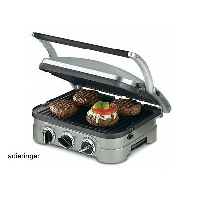 Non Stick 5 in 1 Panini Grill Sandwich Griddle Burger Press Toaster Waffle Maker