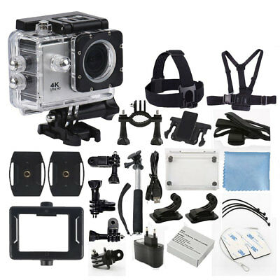 4K Ultra HD DV 12MP 1080p 60fps Sports Action Camera + Complete Accessory Kit