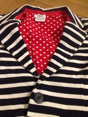 Mamas and Papas nautical jacket with blue/white stripes 2-3 Years . Worn Once