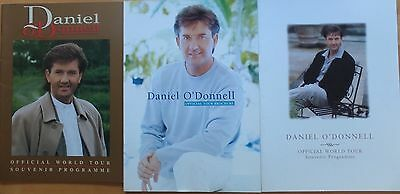 3 Daniel O'donnell World Tour Programmes (With Large Photos)