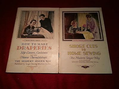 """Vintage """"Singer Sewing Library"""" Books 1 and 4"""
