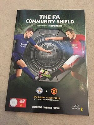 The FA Community Shield 2016 Leicester City Manchester United Programme 07/08
