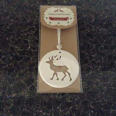 Christmas Scented Reindeer Hanging Tree Decoration.