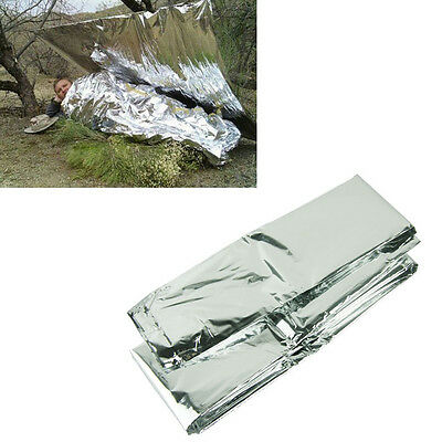 New Silver Thin Emergency Blanket Survival Rescue Curtain Outdoor Life-saving