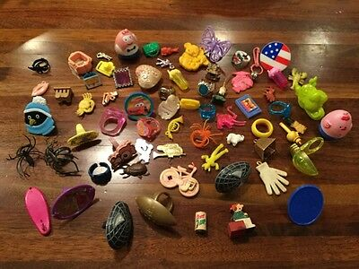 Huge Lot Vintage Gumball Machine Prizes Charms Rings