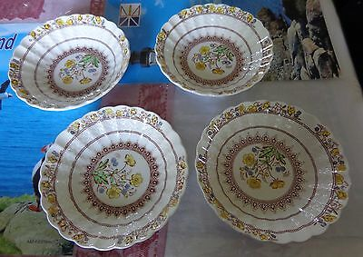 4 Copeland Spode Buttercup nappies or small bowls