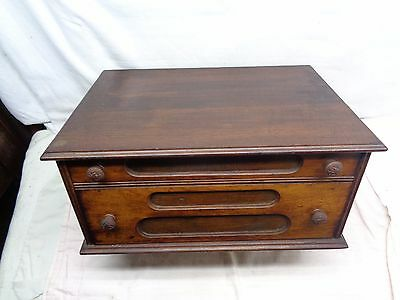 Antique (2) Drawer Spool Cabinet