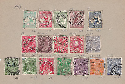 Australia  Early  Stamps On Half  Album Page  , Ref 582