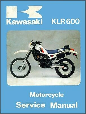 1984-2004 Kawasaki KLR600 KLR650 KLR500 Service Manual on a CD