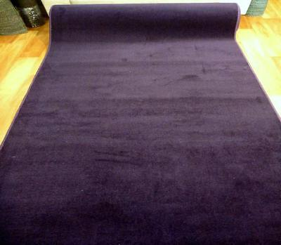 Purple Grandeur Plush Pile Wedding Event Exhibition Thick Washable Carpet Aisle