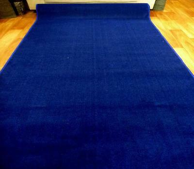 Royal Blue Grandeur Plush Pile Wedding Event Exhibition Thick Washable Carpet Ai