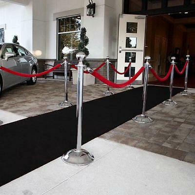 Black Grandeur Plush Pile Wedding Event Exhibition Thick Washable Carpet Aisle R