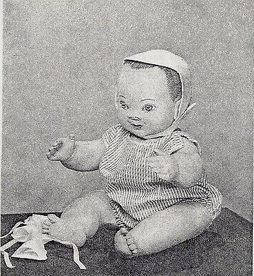 "20""cloth/soft Sculpture Baby Boy/toddler Doll&romper&hat Pattern"