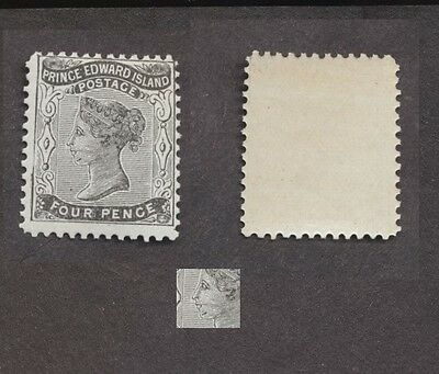 Prince Edward Island Sc.# 9ii  Variety four pence Queen Victoria  MNH Read Descp