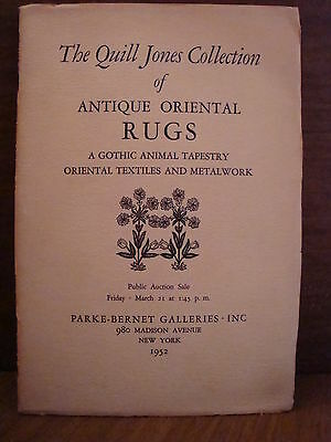 Quill Jones Collection of Antique Oriental Rugs 1952 4.0 VG