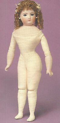 """10&12&14""""antique French Fashion Doll Cloth/leather Jointed/gusset Body Pattern"""