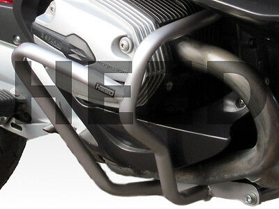 Crash Bars Pare carters Heed BMW R 1200 RT (05-13), argenté, protection moteur