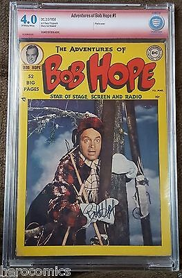 CBCS Golden Age ADVENTURES of BOB HOPE #1 VERIFIED Signed DC Hollywood CGC