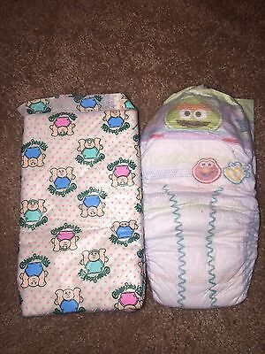 Vintage Adult Baby Cabbage Patch Diapers Actually for real babies large abdl