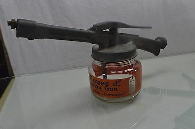 Vintage Hayes Spray Garden Gun with Glass Jar Sprays 3 Gallons Capacity
