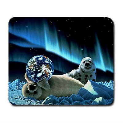 Stop pollution Save money earth and animals mouse mat