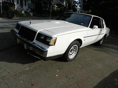 1987 Buick Regal Limited Coupe 2-Door 1987 BUICK REGAL LIMITED T-TYPE TURBO WHITE LOW MILES MINT FAST GRAND NATIONAL
