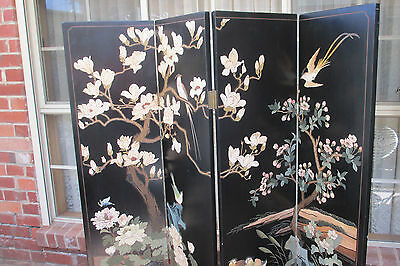 Beautiful 4 Panel Chinese Room Divider