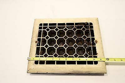 Vintage Ornate Cast Iron Wall Vent Grate Heat Register Industrial Salvaged Grill