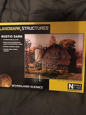 Woodland Scenics Landmark Structures Rustic Barn N Scale Building Kit Pf5211