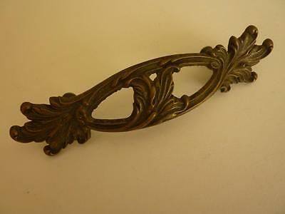 """Vintage Large 5 3/4"""" Brass French Provincial Drawer Pull"""
