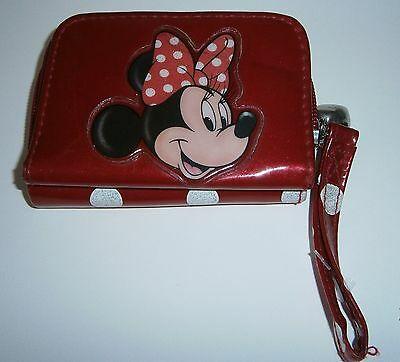 Disney Mickey Mouse Red and White Polka dots Child's Wallet 100% Authentic RARE