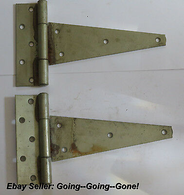Pair Of Vintage Huge Rusty Barn Door Hinges