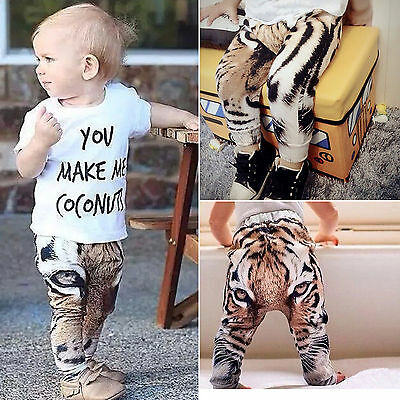Kids Baby Boys Girls Harem Pants Toddler Cotton Long Bottoms Sweatpant Trousers