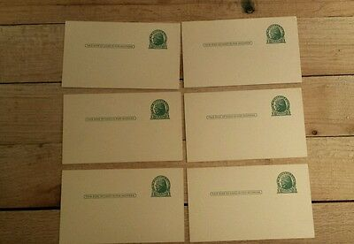 1 Cent Jefferson Postcards uncirculated - Lot of 6