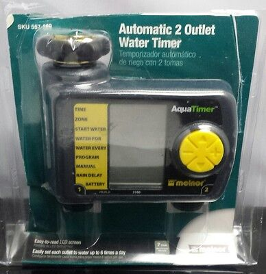 Lawn Watering Controller Automatic 2-Outlet Hose Timer 3100 Melnor Garden