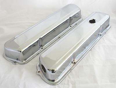 "Holden 253 308 V8 Low Oe Style Chrome Rocker Valve Covers Set Smooth ""new"""