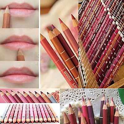 12 PCS /Lot Colors Professional Lipliner Waterproof Lip Liner Pencil 15CM Showy