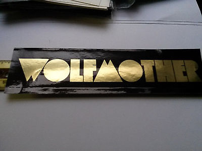 Wolfmother Dimensions Album Promo Sticker 2006-metallic gold graphics