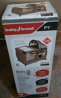 Baby Trend Deluxe Nursery Center Playard Hathaway Portable Playpen Infant Safety
