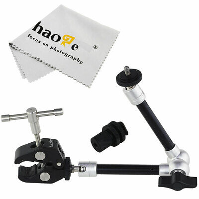 "11"" inch Articulating Friction Magic Arm + Super Clip Clamp for Camera Video"