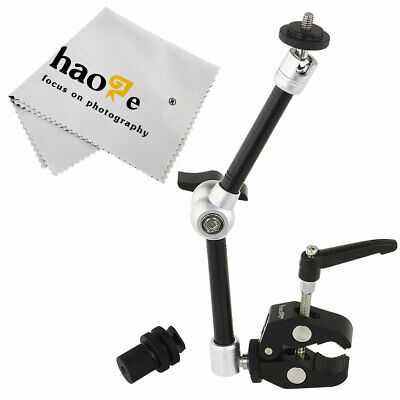 "11"" inch Articulating Friction Magic Arm + Mini Clip Clamp for Camera Video"