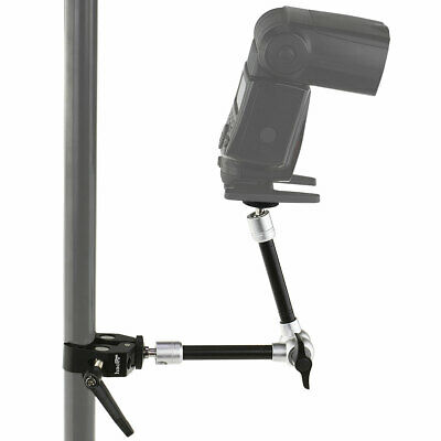 11-Inch Magic Arm + Mini Clamp for Camera Hot Shoe Mount Light Stand Rig Tripod