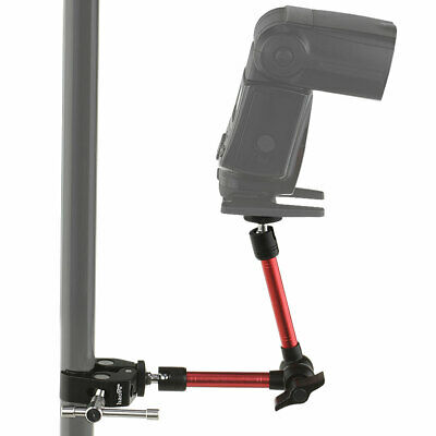 11-Inch Magic Arm + Super Clamp for Camera Hot Shoe Mount Light Stand Rig Red