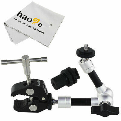 "7"" inch Articulating Friction Magic Arm + Super Clip Clamp for Camera Video"