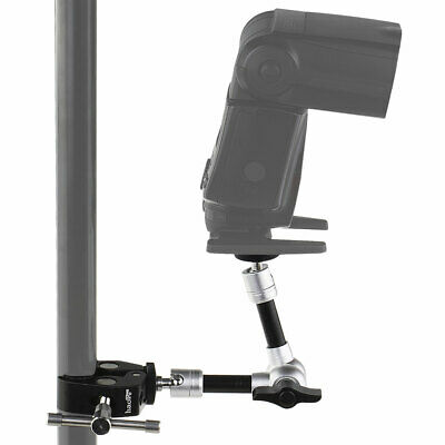 7-Inch Magic Arm + Super Clamp for Camera Hot Shoe Mount Light Stand Rig Tripod